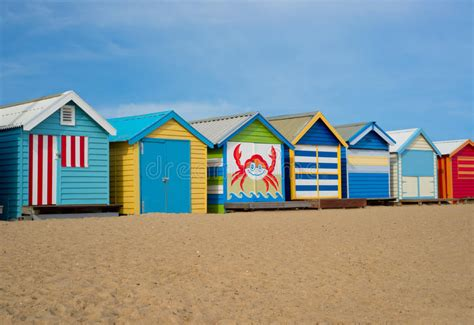 Colorful Cabins by Melbourne Cabins Stock Photo Image 53069308