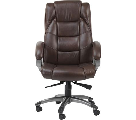 brown leather desk chair buy alphason northland leather reclining executive chair