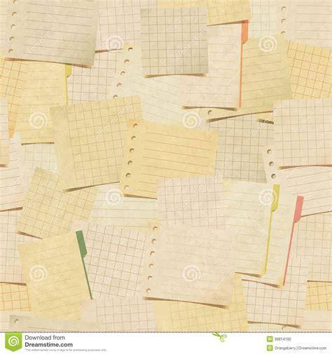 notes on pattern making seamless pattern with paper notes stock illustration