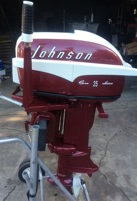 boat motors have each of these vintage antique outboard motors have been