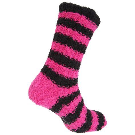womens fleece slipper socks womens striped supersoft fleece slipper socks with
