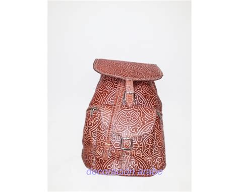 mochila cuero mujer mochila de mujer de cuero repujado dos colores