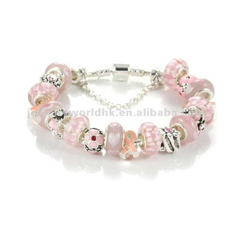 pink ribbon bracelets jewelry for breast cancer awareness
