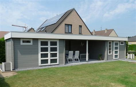 groot tuinhuis met overkapping blokhut met overkapping tuinhuis buitenverblijf blokhut