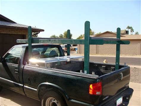 Diy Truck Ladder Rack by Thoughts Of A Deranged Engineer Diy Wooden Boat Rack