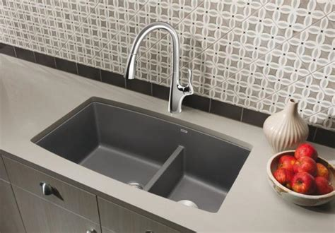 Semi Professional Kitchen Faucet by Blanco Performa 1 3 4 Medium Bowl Blanco