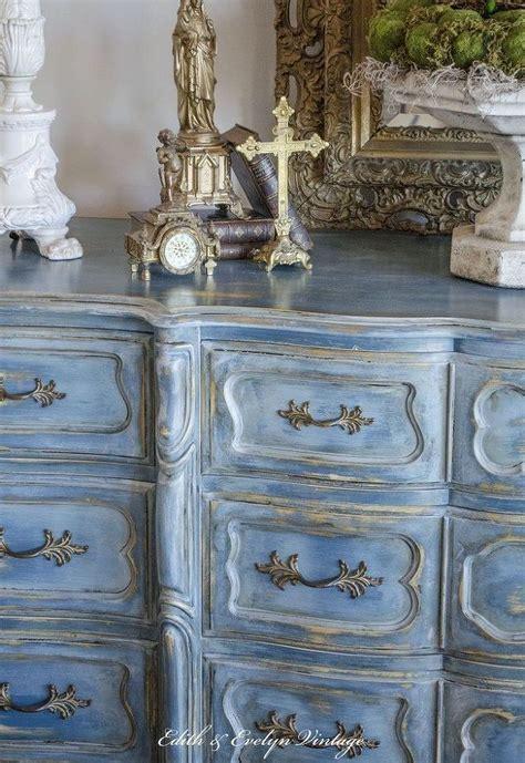 a blue provincial dresser hometalk