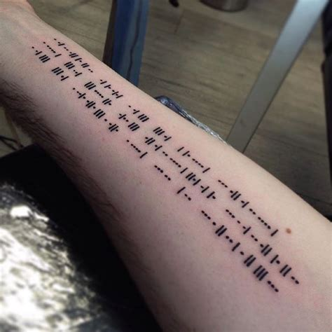 morse code tattoo 4349 best images about design tatoo on