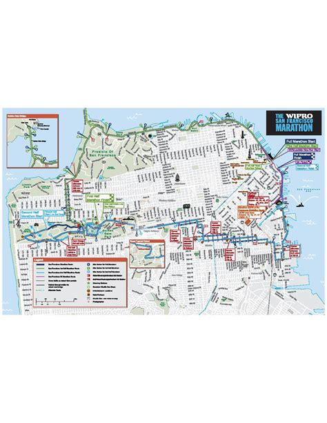 san francisco race map san francisco marathon map michigan map
