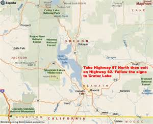 crater lake map images