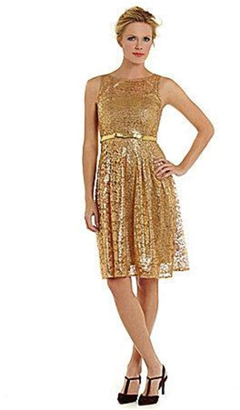 Vilia Lace Flare Dress leslie fay metallic lace fit and flare dress 2233414