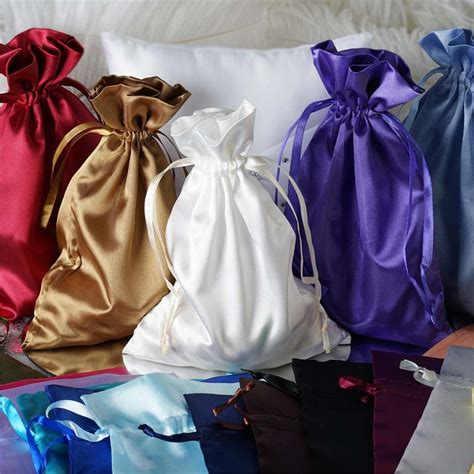 120 pcs 6x9 quot large satin favor bags wedding drawstring gift pouches discounted ebay