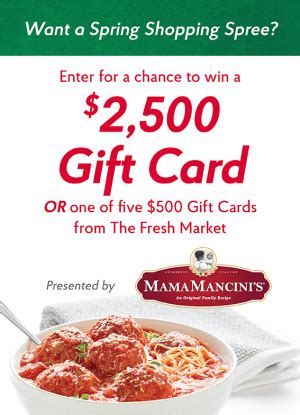 Fresh Market Gift Card - mama mancini s the fresh market spring spree giveawayus com