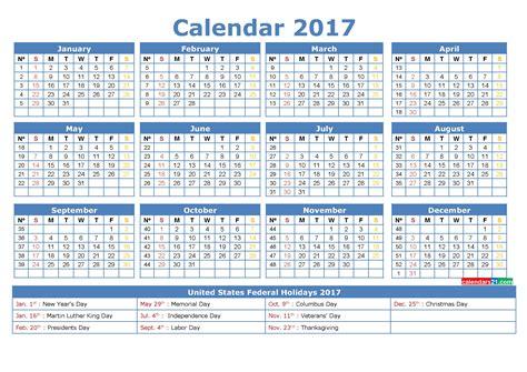 Day Number Calendar Calendar 2017 Week Numbers Calendar