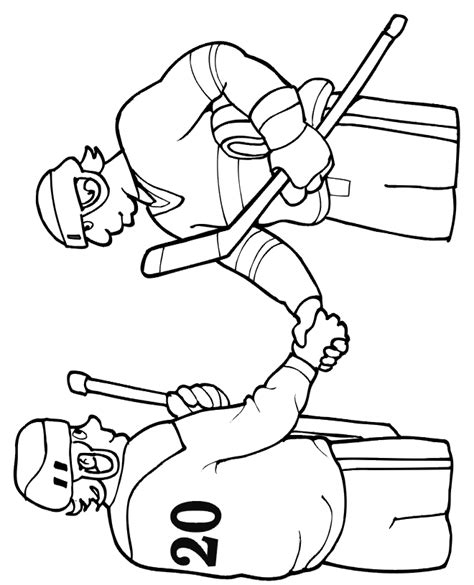 hockey coloring pages pdf hockey coloring page 2 players shaking hands coloring home