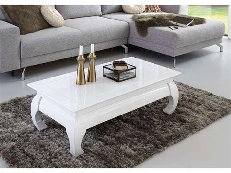 table basse rectangulaire opium coloris blanc vente de