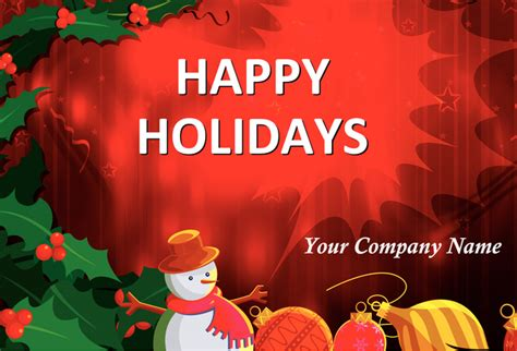 happy holidays photo card template free 16 greeting card template images free