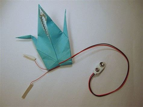 how to make origami crane that flaps its wing how to make an electronic origami crane that flaps its own