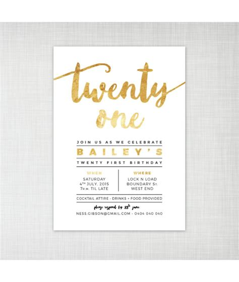 21st invitation templates how to create 21st birthday invitations modern templates