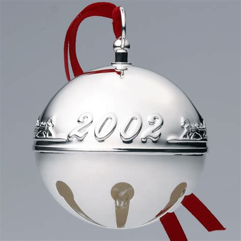 wallace silver bell 2018 2002 wallace sleigh bell silverplate ornament sterling collectables