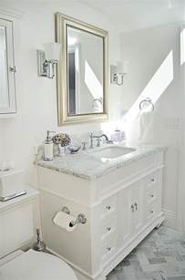 Carrara Marble Bathroom Ideas by Guest Bathroom Carrara Marble Amp White Bathroom