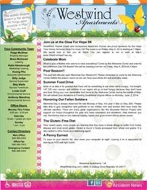Tenant Newsletter Template 1000 Images About Newsletter Flyer Ideas On Pinterest Newsletter Sle Newsletter Ideas And