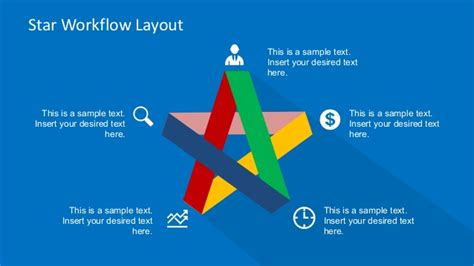 layout diagram ppt five steps flat star diagram for powerpoint slidemodel