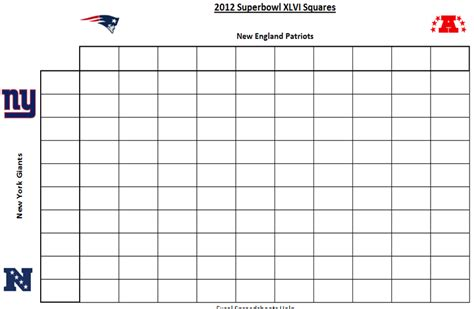 super bowl pool squares template new calendar template site
