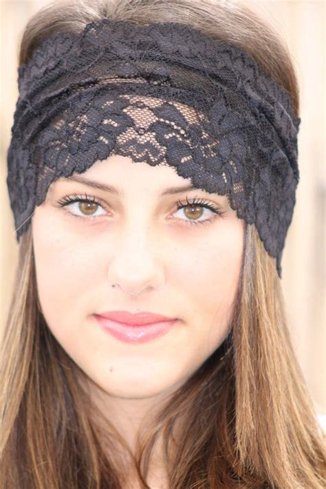 hairstyles with elastic headband soft and stretchy black lace headband this beautiful lace