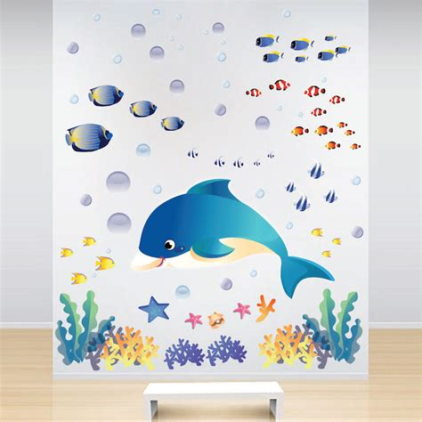 the sea wall stickers the sea wall decals fish bedroom stickers
