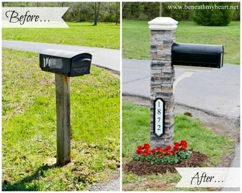 mailbox makeover improving curb appeal beneath my - Curb Appeal Mailbox