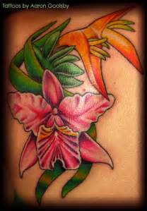 beautiful tropical flower tattoos