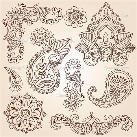 henna tattoo designs eps mandala flower henna mehndi paisley flowers