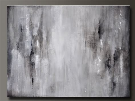 painting greys graphite gray 40 x 30 abstract acrylic painting huge