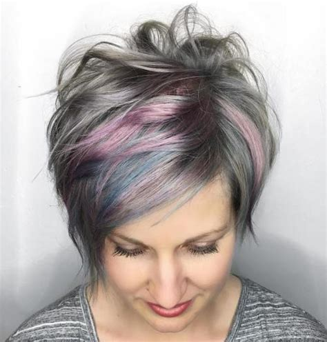 pictures of grey hairstyles with pink highlights 60 gorgeous long pixie hairstyles