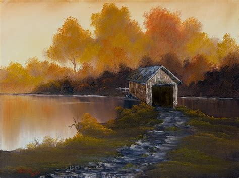 bob ross painting bridge happy trees elements in the 381 paintings of bob ross on
