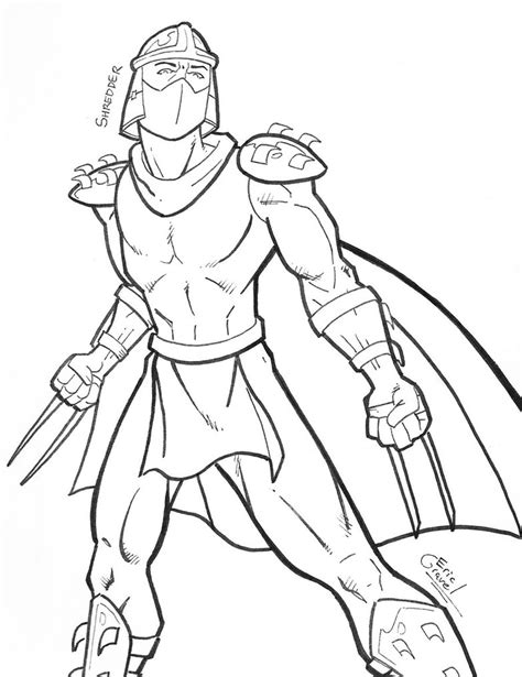 Shredder Coloring Pages tmnt shredder coloring pages coloring pages