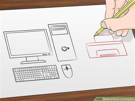 how to draw on computer how to draw a computer 12 steps with pictures wikihow