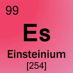 Printable Quizzes 99 Einsteinium Element Cell Science Notes And Projects