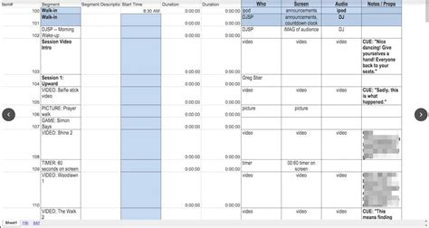 What Is A Production Cue Sheet Tv Rundown Excel Template