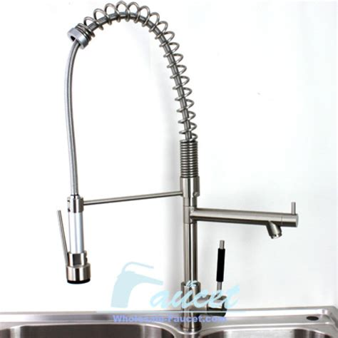 Designer Kitchen Faucets by Brushed Nickel Pull Out Kitchen Faucet Contemporary