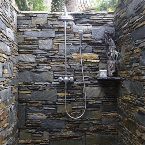 Beautiful Outdoor Showers by 30 Outdoor Shower Design Ideas Showing Beautiful Tiled And