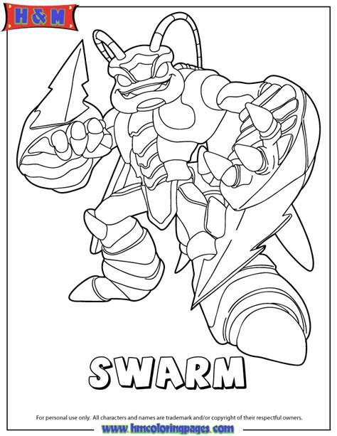 Skylanders Giants Coloring Pages skylanders giants air swarm coloring page h m coloring