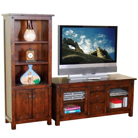 entertainment centers with bookshelves entertainment centers wood tv console bookcase from seabrook designs