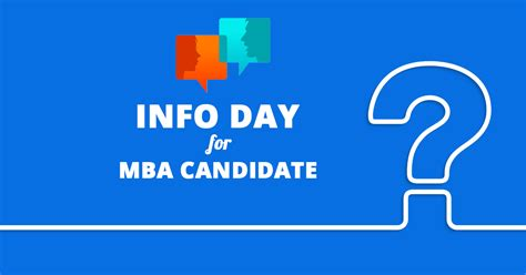 What Is An Mba Candidate by Info Day For Mba Mci Candidates Mba Mci