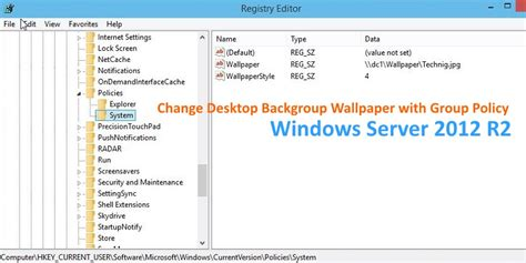 desktop wallpaper via group policy how to change desktop background with group policy technig