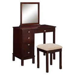 buy linon home vanity and bench set in walnut from