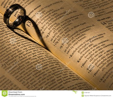 Wedding Bible Pictures by A Wedding Ring On A Bible Stock Image Image Of Shape