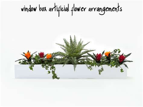 artificial flower arrangements  window boxes
