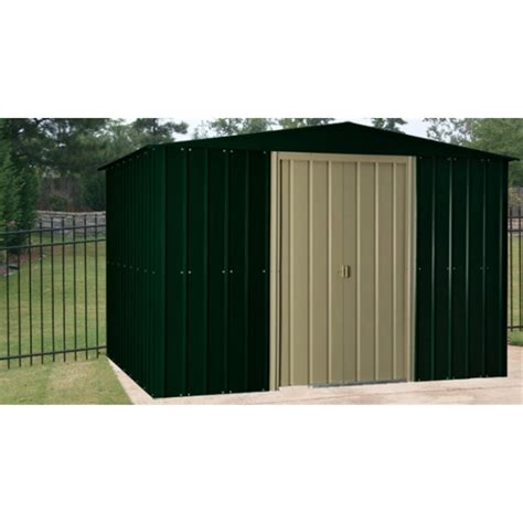 8 X 10 Aluminum Shed by 10 X 8 Apex Heritage Green Metal Shed 2 95m X 1 75m